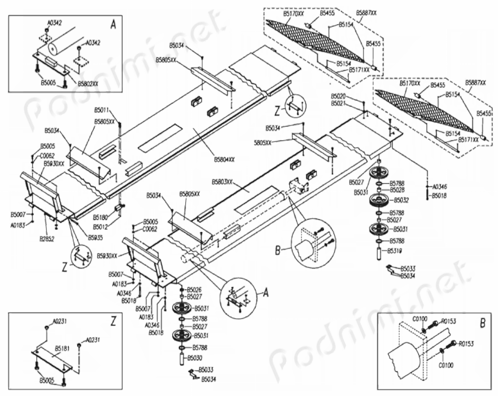 схема подъемника oma